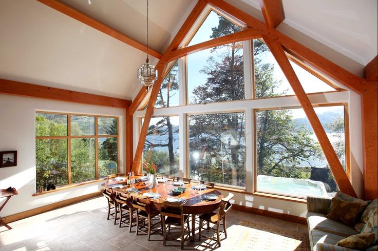 Dining Table Knoydart House www.knoydarthouse.co.uk