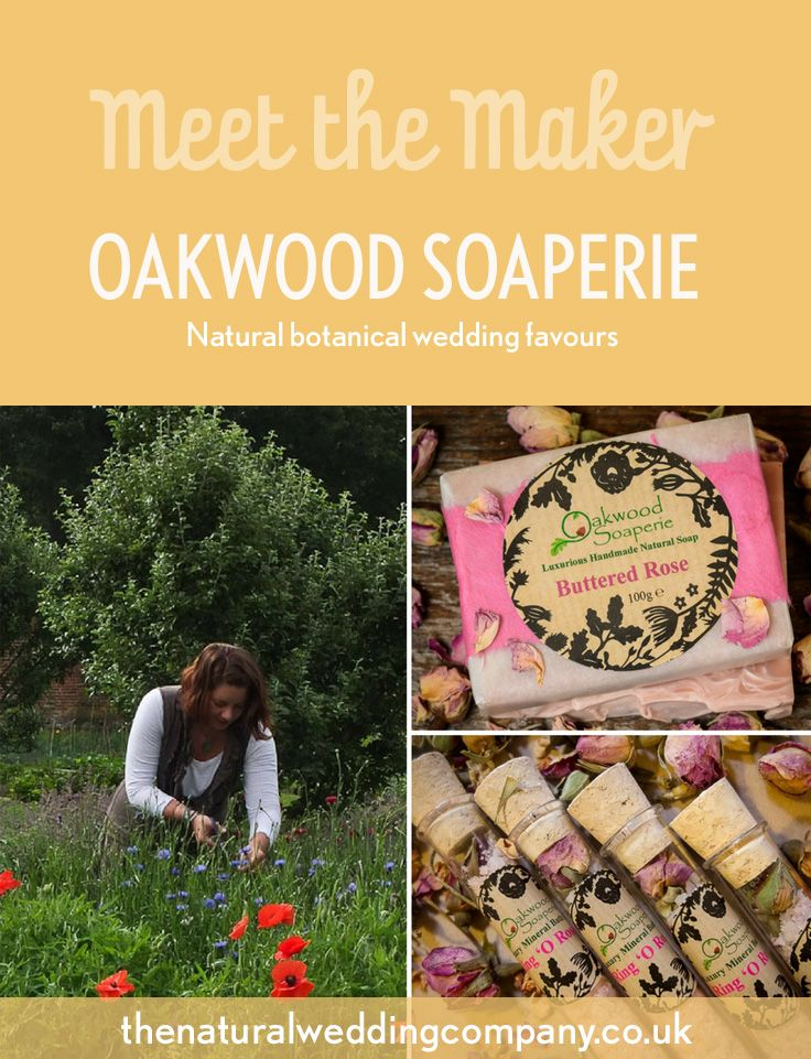 Botanical wedding favours from Oakwood Soaperie // The Natural Wedding Company
