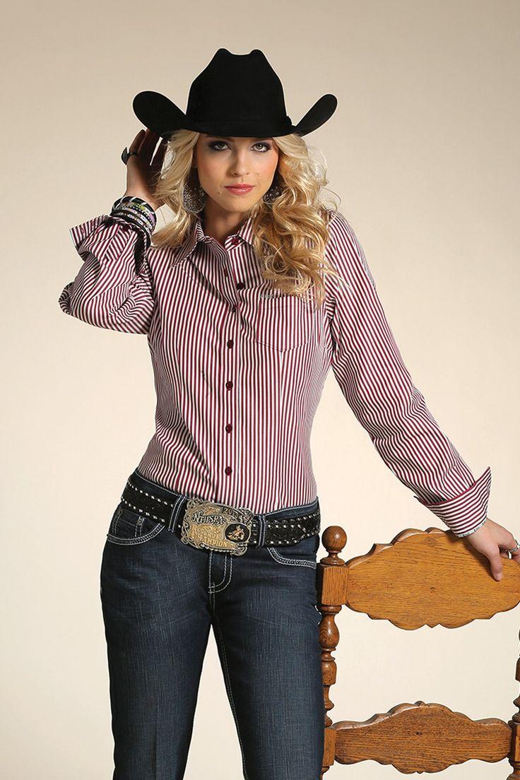 Red Pinstripe Button Down Shirt CTW9164076 AST