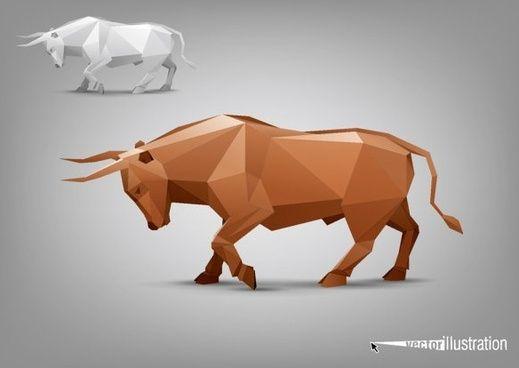 фасады модели тела животных 03 вектор