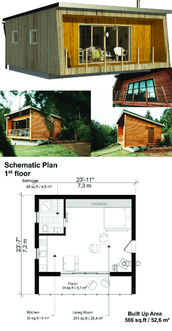 Pin On Tiny House Plans Small wooden house design plan