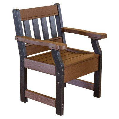 Outdoor Little Cottage Heritage Recycled Plastic Garden Chair - LCC-123-TUDOR/BLACK, Durable