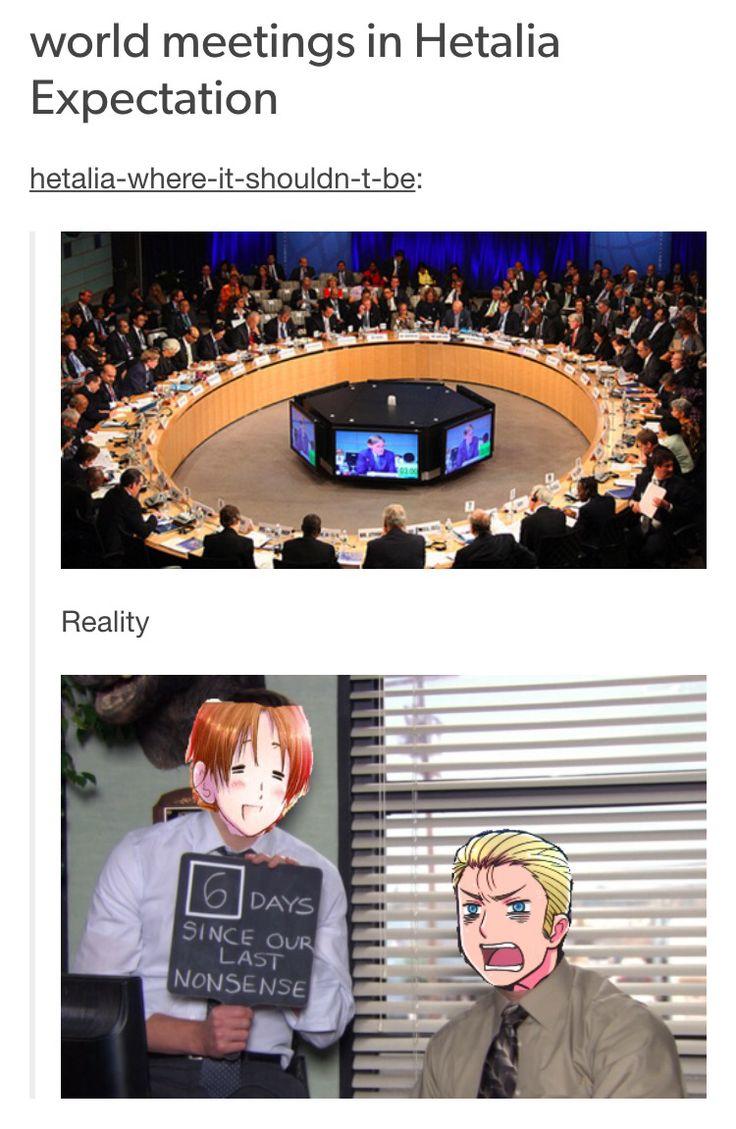 Hetalia world meetings