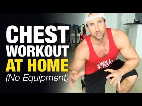 Chest Workout At Home For Men (Build Mass Without Equipment) - YouTube
