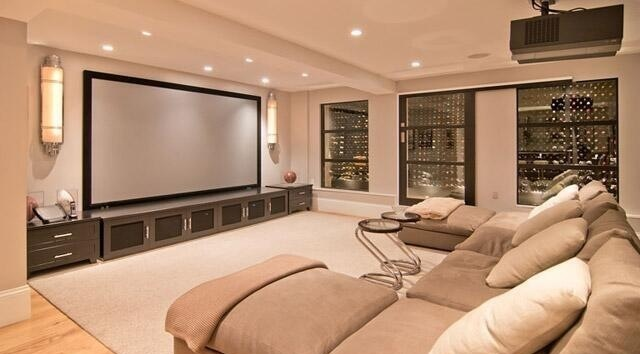 Basement movie theater dream house pinterest theater for Basement theater room