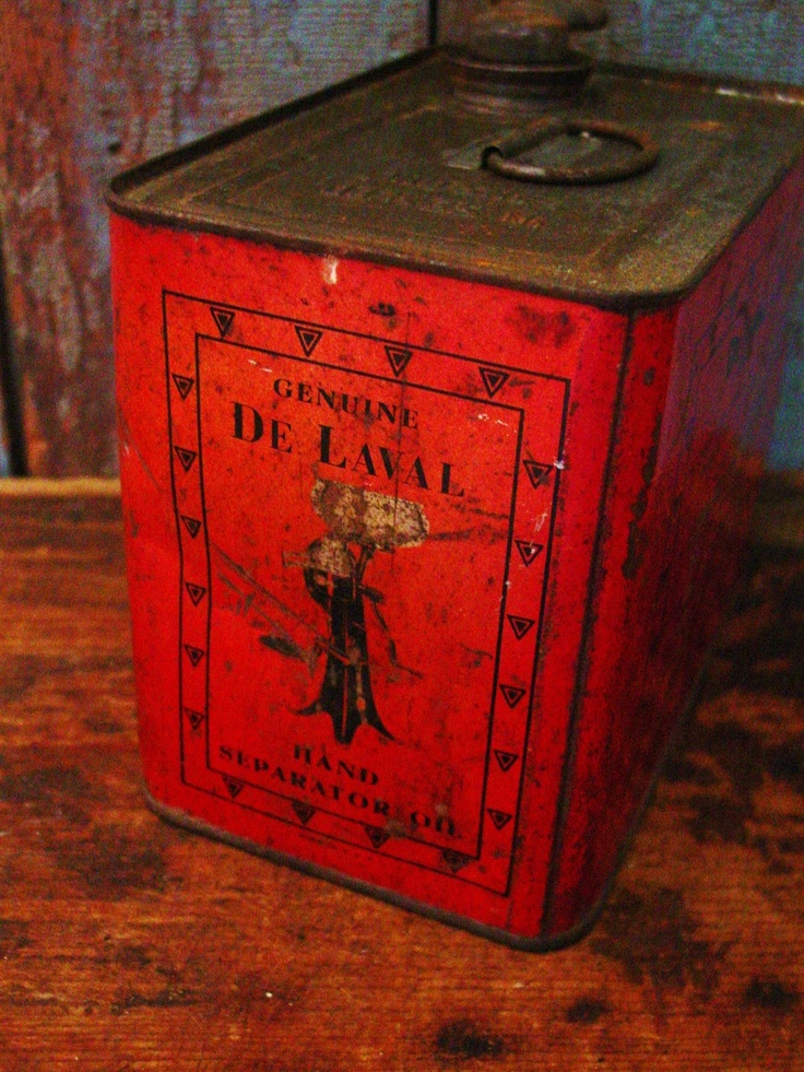 Early Farmstead De Laval Cream Hand Separator Oil Can ...