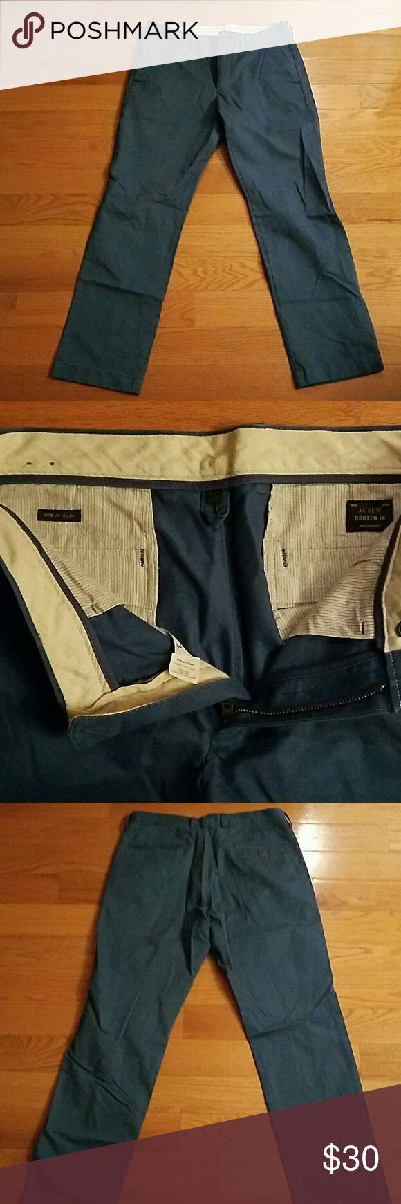 Blue J Crew Urban Slim Fit Chinos 31x30 Broken-in J Crew Chino pants. Great condition. J Crew  Pants Chinos & Khakis