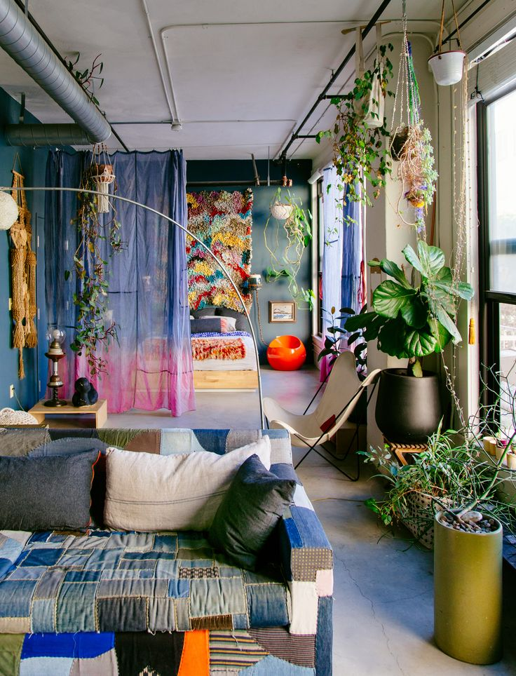 An all-time favorite apartment chock full of color, creativity, originality and style. | shown in 'The New Bohemians' Book; By Justina Blakeney |