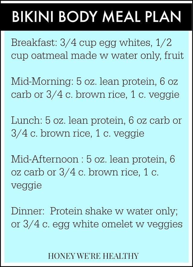 This week we're turning it up a notch in both the workouts and meal plan. I still have fat to lose so, right now, there will be no fat in my diet, no sugar, no dairy. I have to say that the meal pla