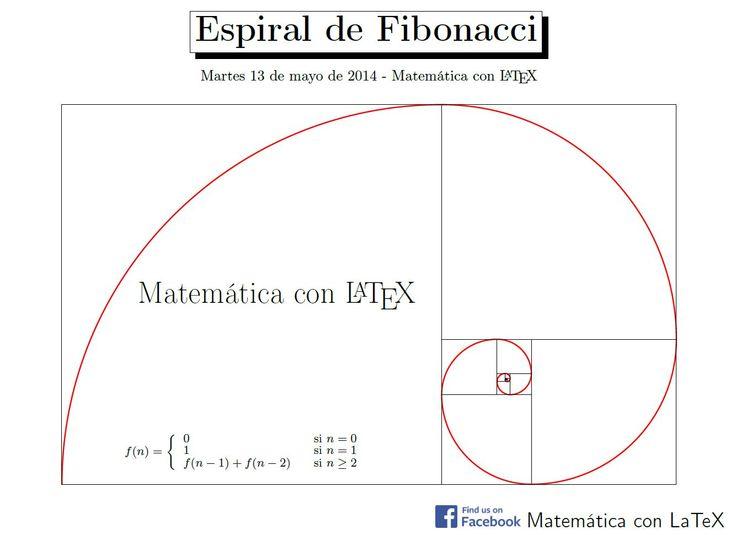 Fibonacci's Spiral. http://www.facebook.com/matematicaconlatex
