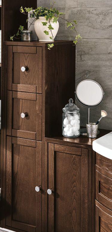 #Eban #semi colonna Domitilla 114 | #Legno | su #casaebagno.it | #composiozioni #mobili #bagno #arredamento #design