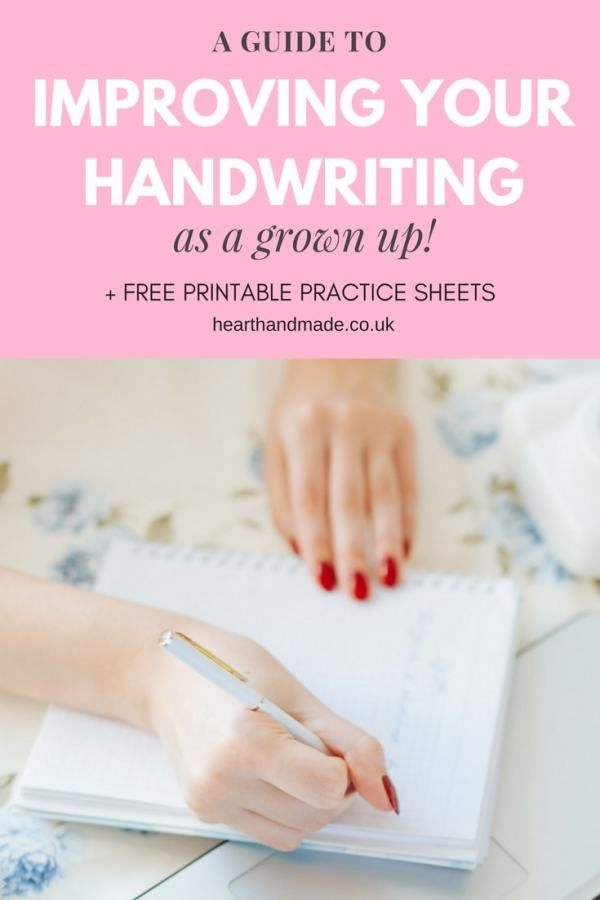 A comprehensive guide to help you improve your penmanship as a grown up. Learn the best pens to learn handwriting plus free handwriting practice sheets for you to download and print. How to improve your handwriting   Free Printable Worksheets!