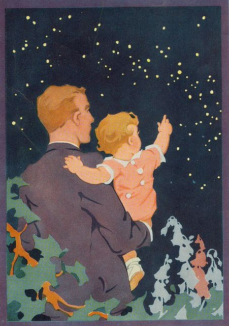 For Daddy, who taught me to reach for the stars.....Father's Day Vintage Card 1930's