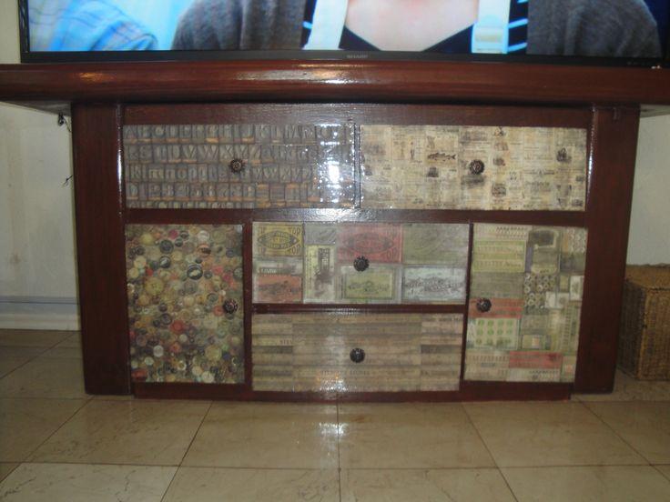 Mueble decorado
