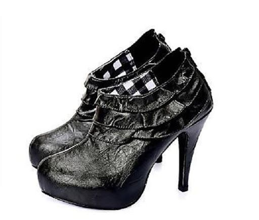 Brand New Womens Elegant PLATFORM Black High Heel PU Leather Shoe/Ankle Boots Pumps with Rear Zipper Sizes Eu35,Au4,US5, Eu36,Au5,US6. RRP $59.99  Whether you are taking a leisurely stroll through the park or need to make it on time for that next important meeting these boots will make heads turn.  The comfortable platform gives great stability and looks very smart.  This winter is set to be one of our wettest. If you want your feet to stay warm and dry then this type of footwear is for you…