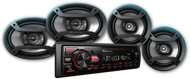 "Pioneer Bluetooth Car Stereo Receiver 2x 6.5"" Speakers 2x 6"" X 9"" USB Aux In #Pioneer"