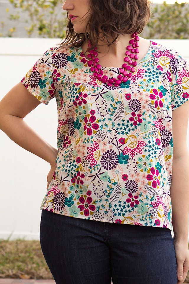 Scout Woven Tee Beginners Sewing Pattern