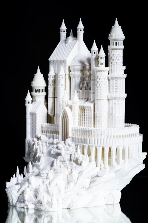 3D Printed Medieval Castle by PrintAworldService on Etsy