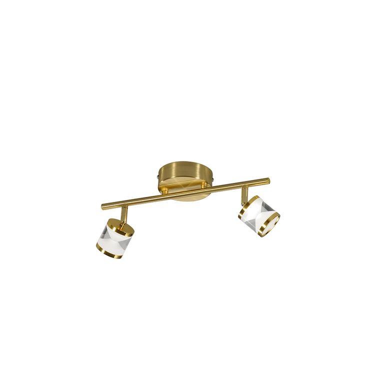 Messing LED-Balken mit 2 verstellbaren Strahler von OSRAM