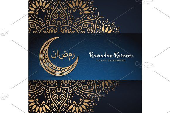 Ramadan Kareem Greeting Card Design With Mandala Ramadan Greetings Ramadan Cards Ramadan Kareem