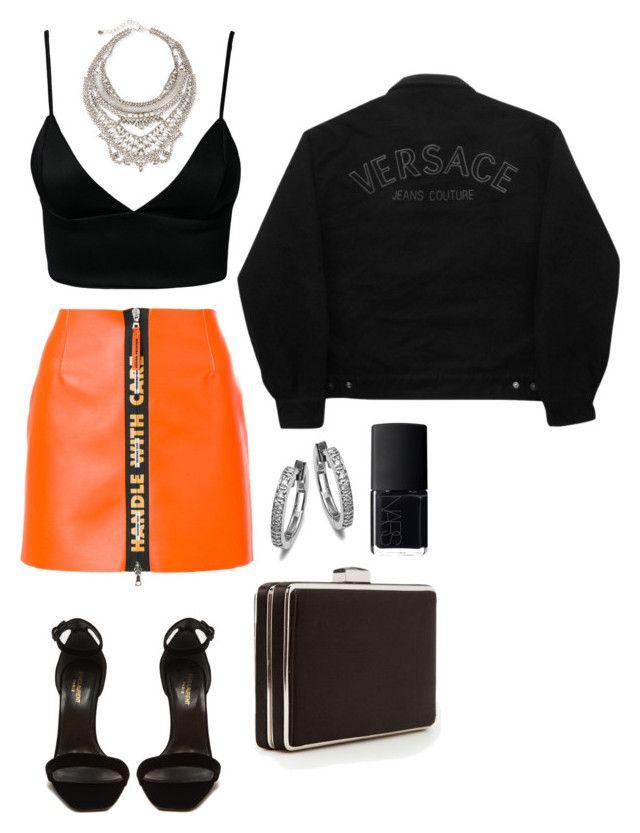 """Sin título #30"" by delfijdjdu on Polyvore featuring moda, Heron Preston, Yves Saint Laurent, Dark Pink, MANGO, Versace Jeans Couture, DYLANLEX y NARS Cosmetics"