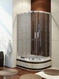 NEW TRENDY Kabina prysznicowa asymetryczna MAGNA k-0116 100x80x165 szkło grafit