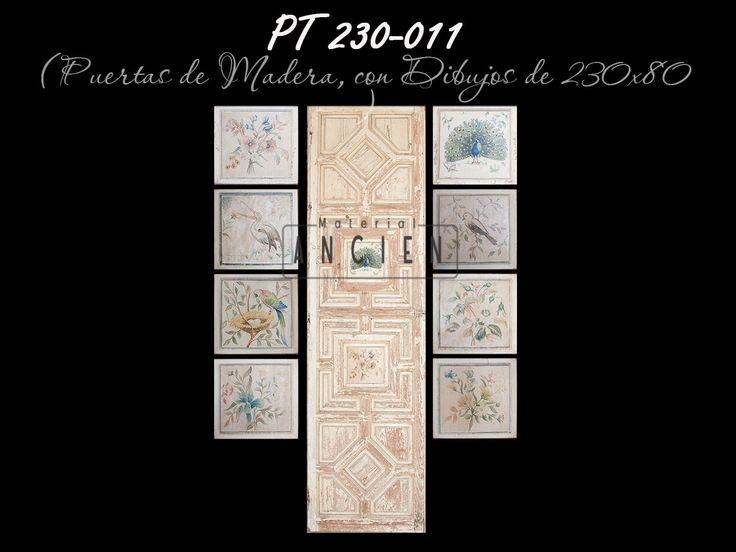 Juego de 4 puertas con dos dibujo cada una. #puertasantiguasalaventa #puertasantiguas #antiguo #pintadaamano #puertasantiguaalaventa