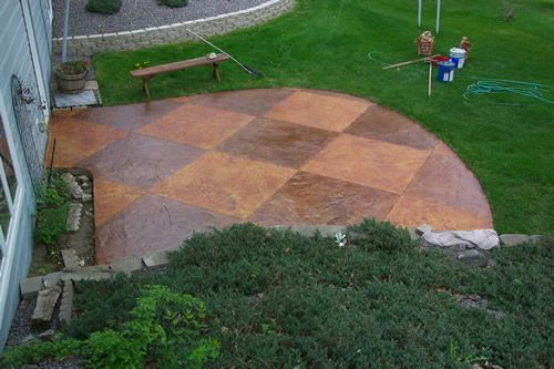 17 Best Ideas About Painted Concrete Outdoor On Pinterest