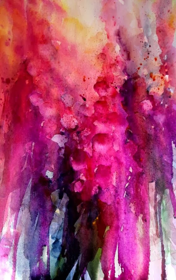 Jean Haines floral watercolour. She is a real master!