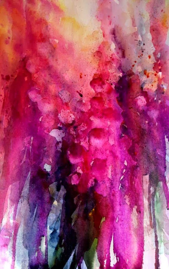Jean Haines floral watercolour.
