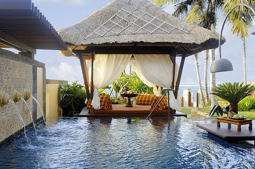 Private Ocean Front Pool and Gazebo, Bali