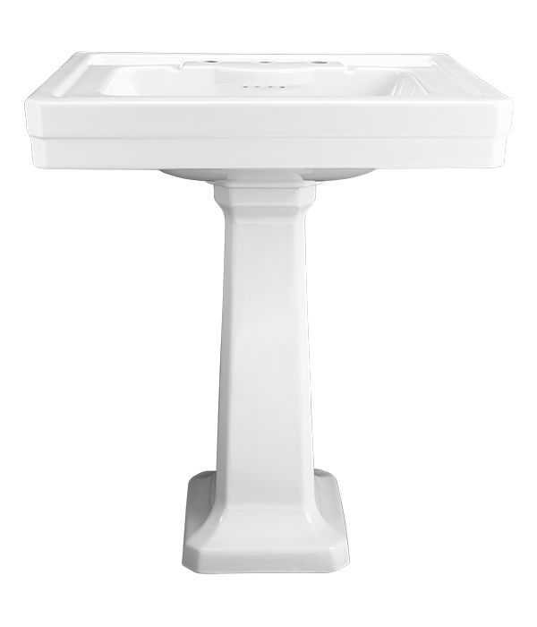 "Fitzgerald 28"" Pedestal Lavatory from DXV"