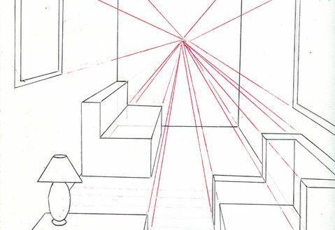 Como desenhar um quarto em perspectiva usando um ponto de fuga - 44 ARQUITETURA