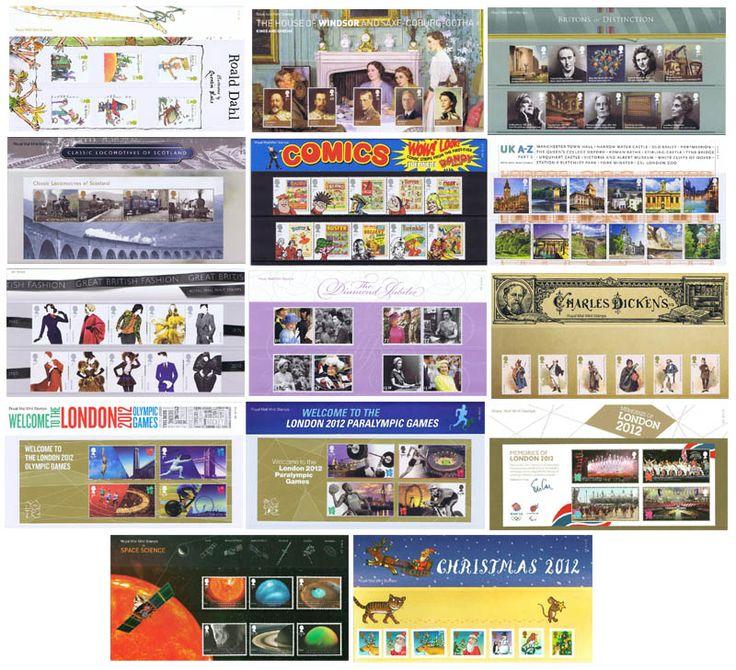 2012 Year Set (14 Packs) Commemorative Presentation Packs - Year Sets - 2012 Year Set (14 Packs) - Presentation Packs