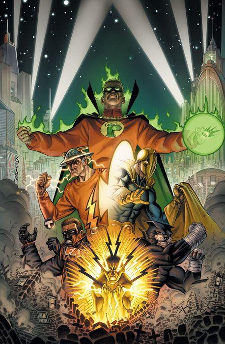 #Justice #Society #Of #America #Fan #Art. (Justice Society of America. Supertown, Part Five. Vol.3#48 Cover) By: Scott Kolins & Michael Atiyeh. (THE * 5 * STÅR * ÅWARD * OF: * AW YEAH, IT'S MAJOR ÅWESOMENESS!!!™)[THANK U 4 PINNING!!!<·><]<©>ÅÅÅ+(OB4E)