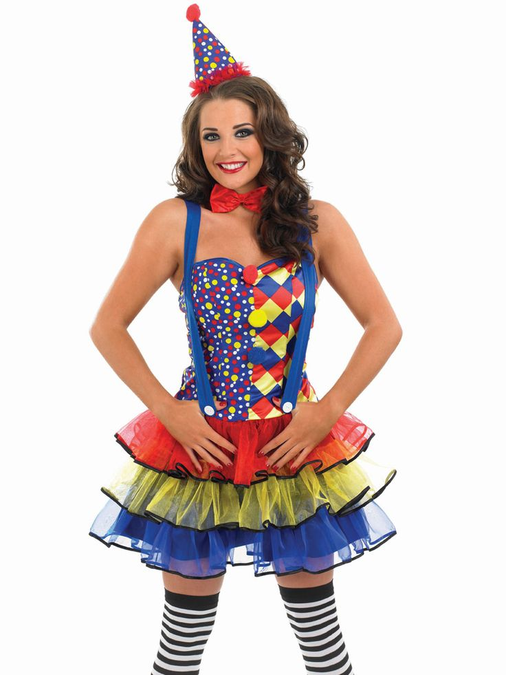 Adult Sexy Clown Costume  Party Ideas  Sexy Clown -4583