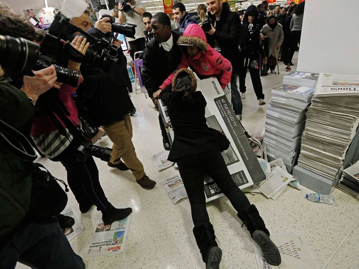 Black Friday: Fights break out after shoppers queue all night for bargains