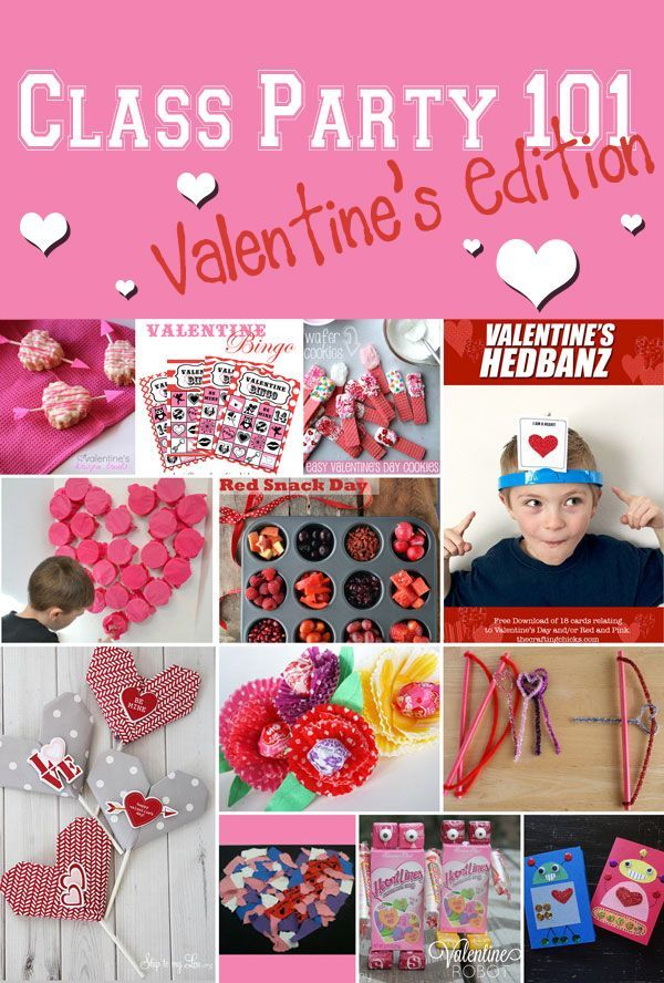 Valetine's Day Class Party 101 - Everything you need for a class party! Games, Treats, Crafts and more!: