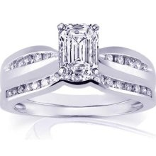 Very hard to find an emerald cut.....but my favorite! (Expensive....but that's me....always pick the most expensive thing!)