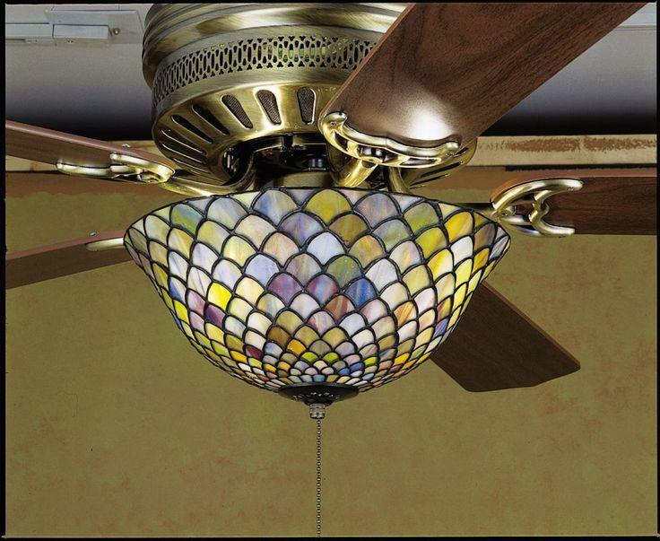 Meyda Tiffany 27451 Stained Glass / Tiffany Fan Light Kit from the Fixtures Coll Tiffany Glass Ceiling Fan Accessories Light Kits Light Kits