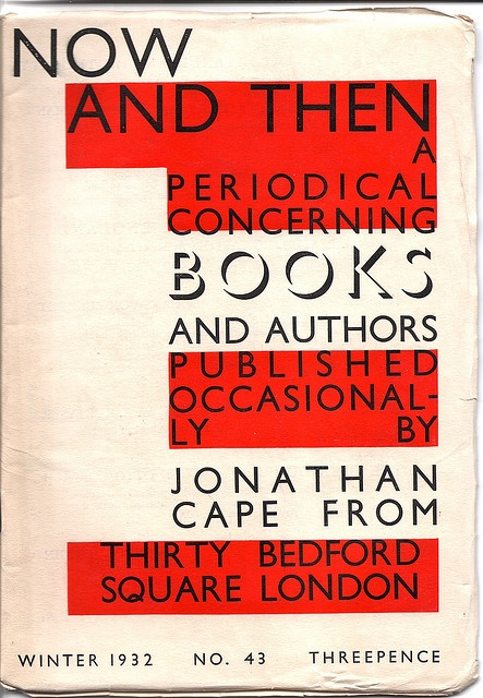 Now and Then - Jonathan Cape, publishers, newsletter, Winter 1932
