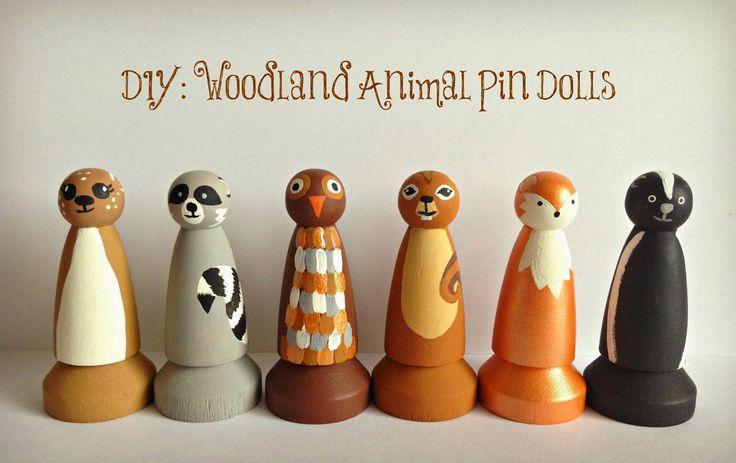 WhiMSy love: DIY Woodland Animal Pin Dolls