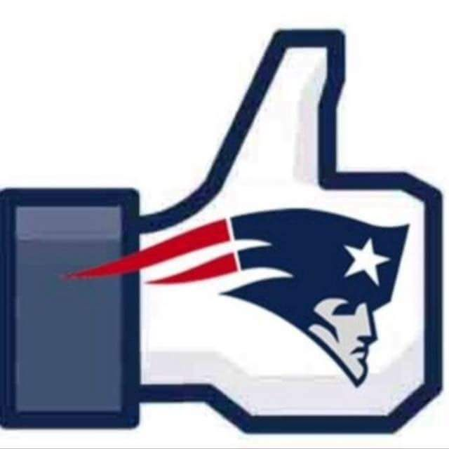 "New England Patriots Facebook ""like"" button 