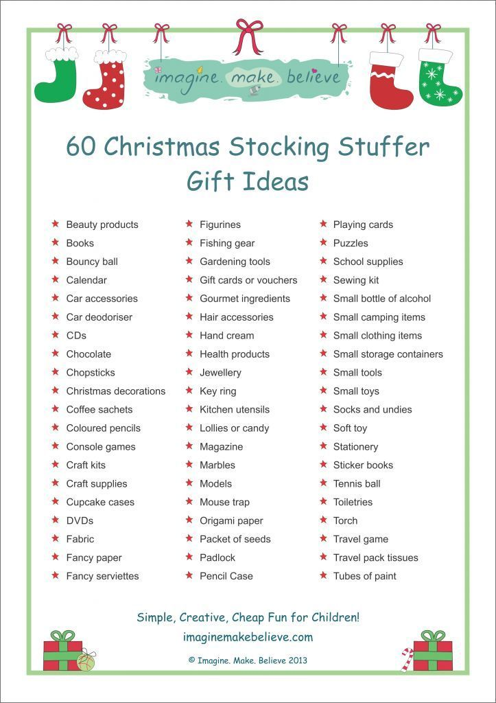 Christmas Stocking Stuffer Ideas - Imagine. Make. Believe, stocking filler, stocking, stuffer, fillers gifts, trinkets, goodies, ideas: