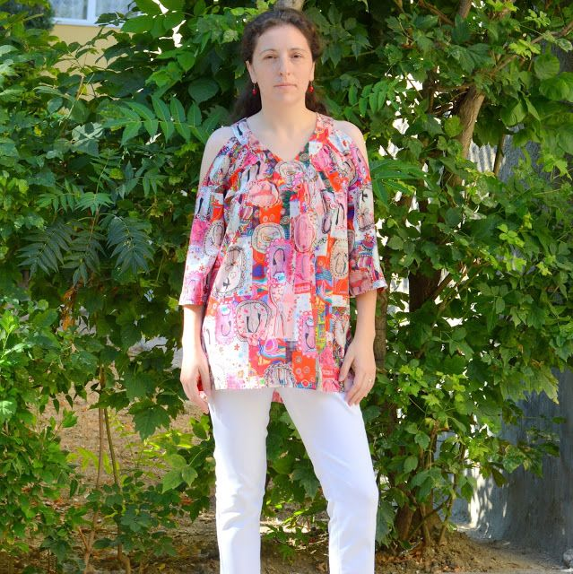 I believe I can sew...: Girly cold shoulder tunic - Butterick 6457