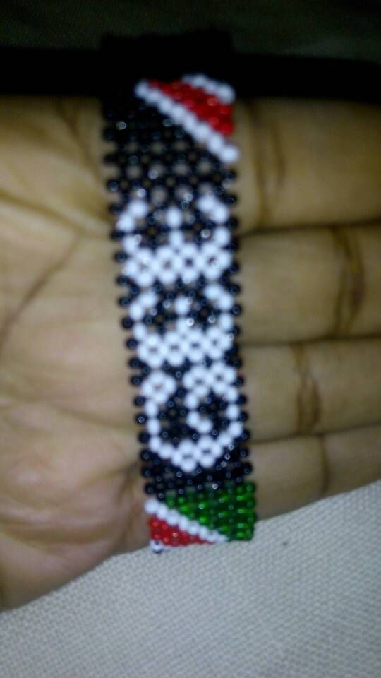 Kenya Flag beaded bracelets with names by delight27 on Etsy
