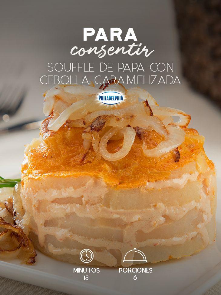 Porque el amor también entra por el estómago, prepárale un Soufflé de papa con cebolla caramelizada. #recetas #receta #quesophiladelphia #philadelphia #crema #quesocrema #queso #comida #cocinar #cocinamexicana #recetasfáciles #papa #cebolla #soufflé #soufflédepapa #chipotle #chile