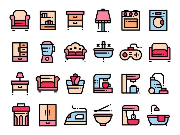 Home Stuff Icons by Lavinia Lorena ✿