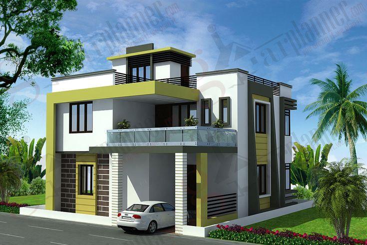 Duplex house pesquisa google projetos de casas for Exterior elevation house design