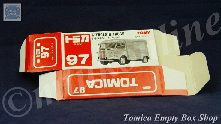 TOMICA 097C CITROEN H TRUCK SILVER | 1/71 | ORIGINAL BOX ONLY | 1988 -1993 JAPAN